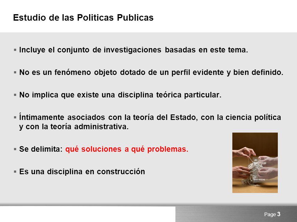 Estudio de las Politicas Publicas
