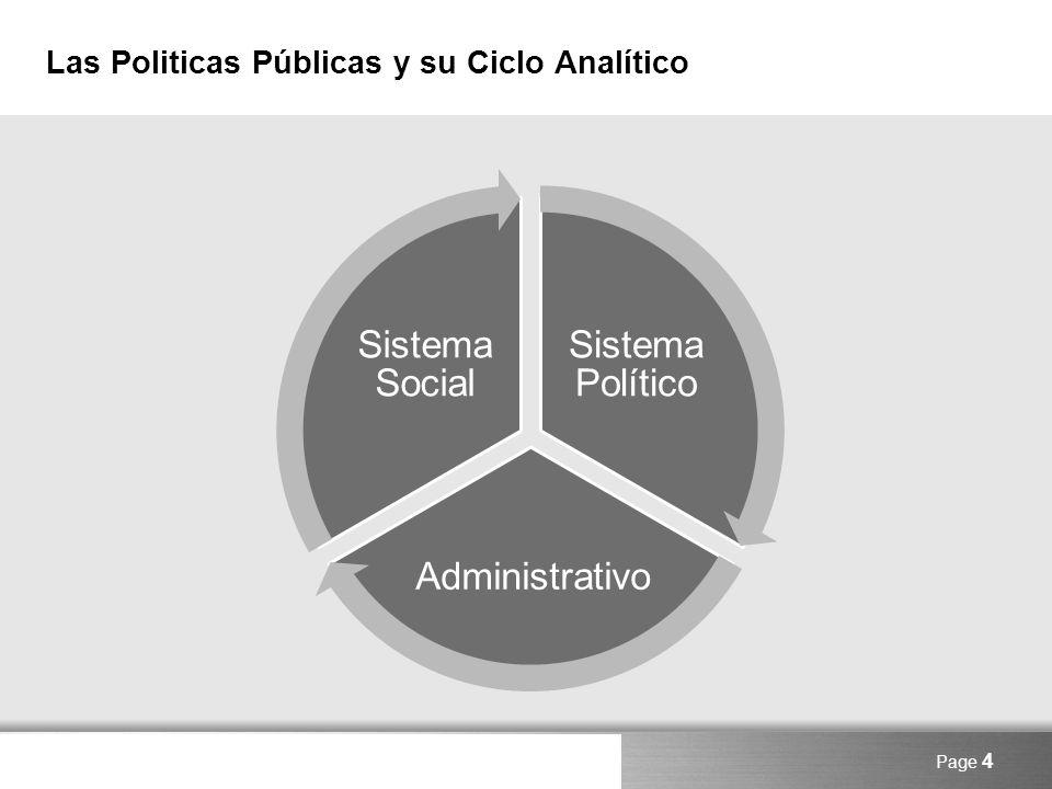 Las Politicas Públicas y su Ciclo Analítico