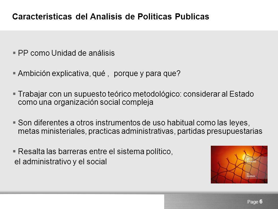 Caracteristicas del Analisis de Politicas Publicas