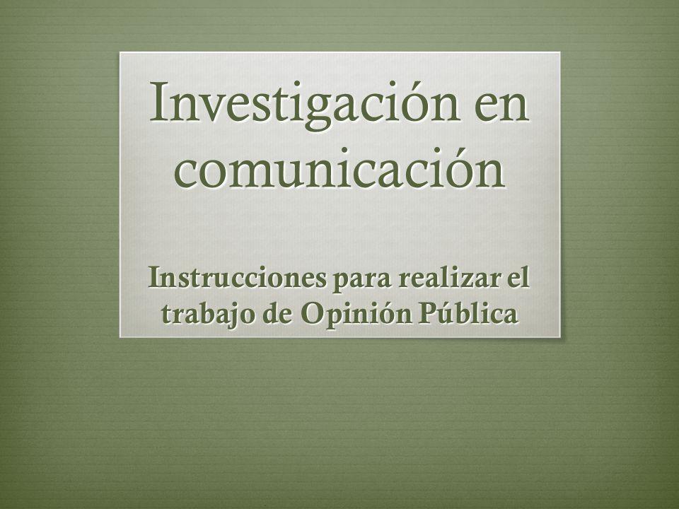 Investigación en comunicación