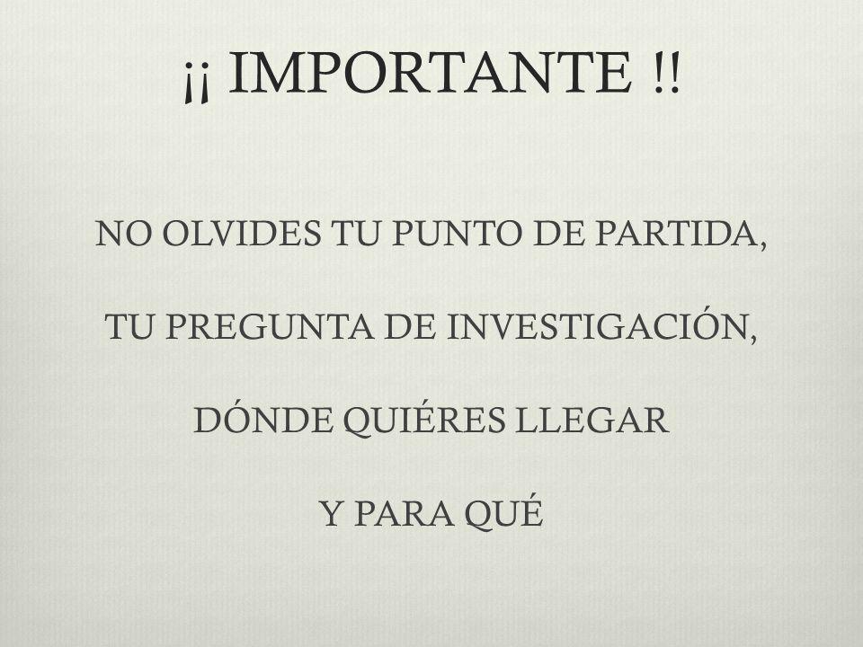 ¡¡ IMPORTANTE !.