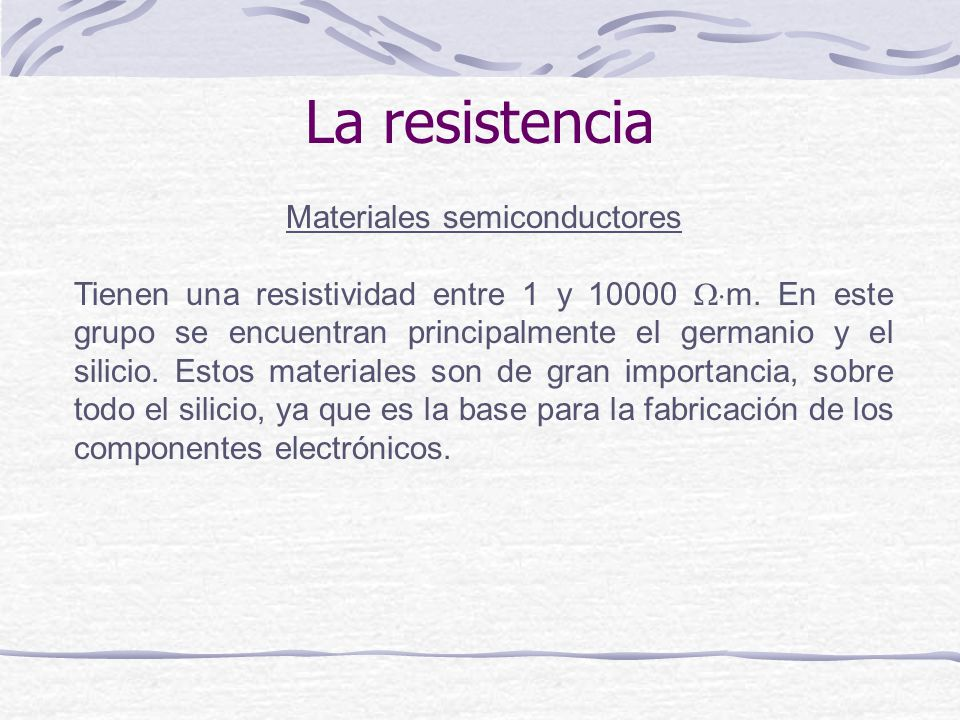 Materiales semiconductores