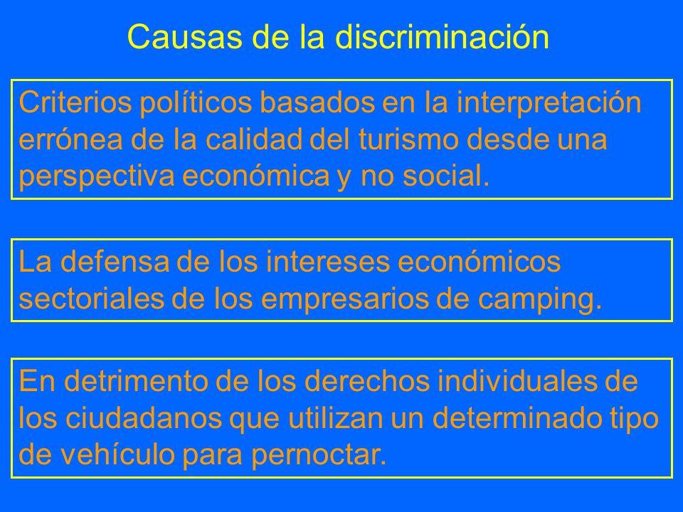Causas de la discriminación