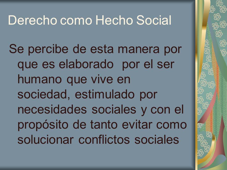 Derecho como Hecho Social