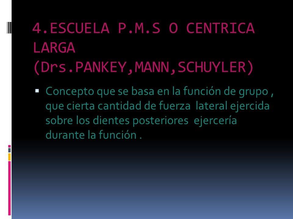 4.ESCUELA P.M.S O CENTRICA LARGA (Drs.PANKEY,MANN,SCHUYLER)