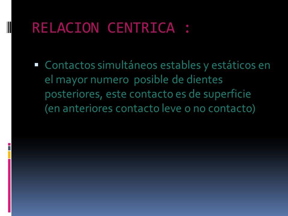 RELACION CENTRICA :