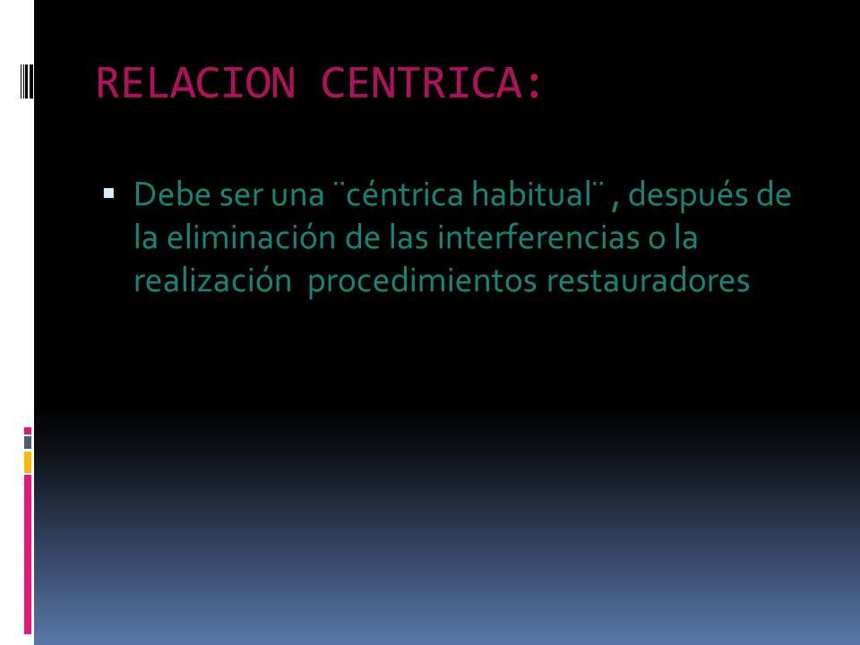 RELACION CENTRICA: