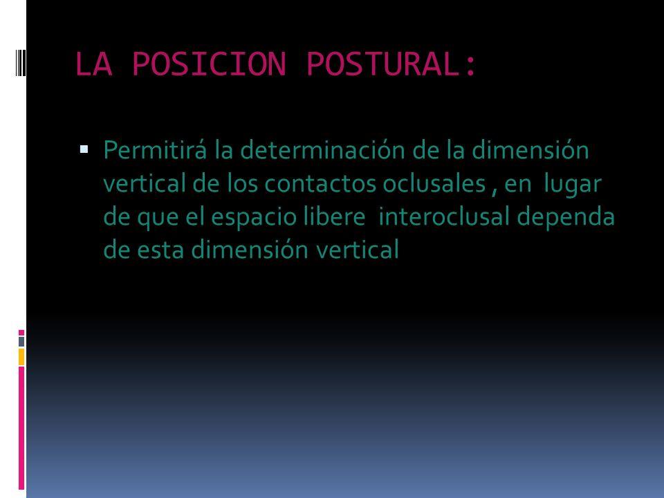 LA POSICION POSTURAL:
