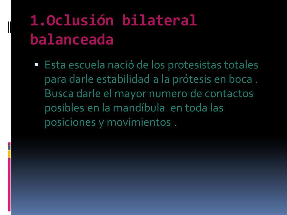 1.Oclusión bilateral balanceada