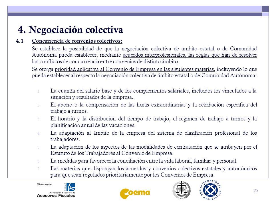 4. Negociación colectiva