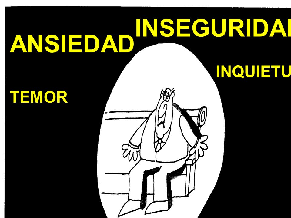 INSEGURIDAD INQUIETUD ANSIEDAD TEMOR