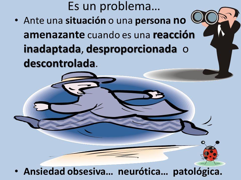 Es un problema… Ante una situación o una persona no amenazante cuando es una reacción inadaptada, desproporcionada o descontrolada.