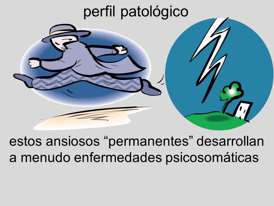 perfil patológico estos ansiosos permanentes desarrollan a menudo enfermedades psicosomáticas