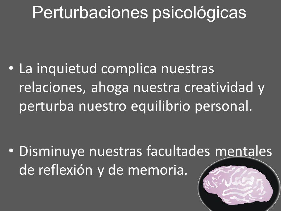 Perturbaciones psicológicas