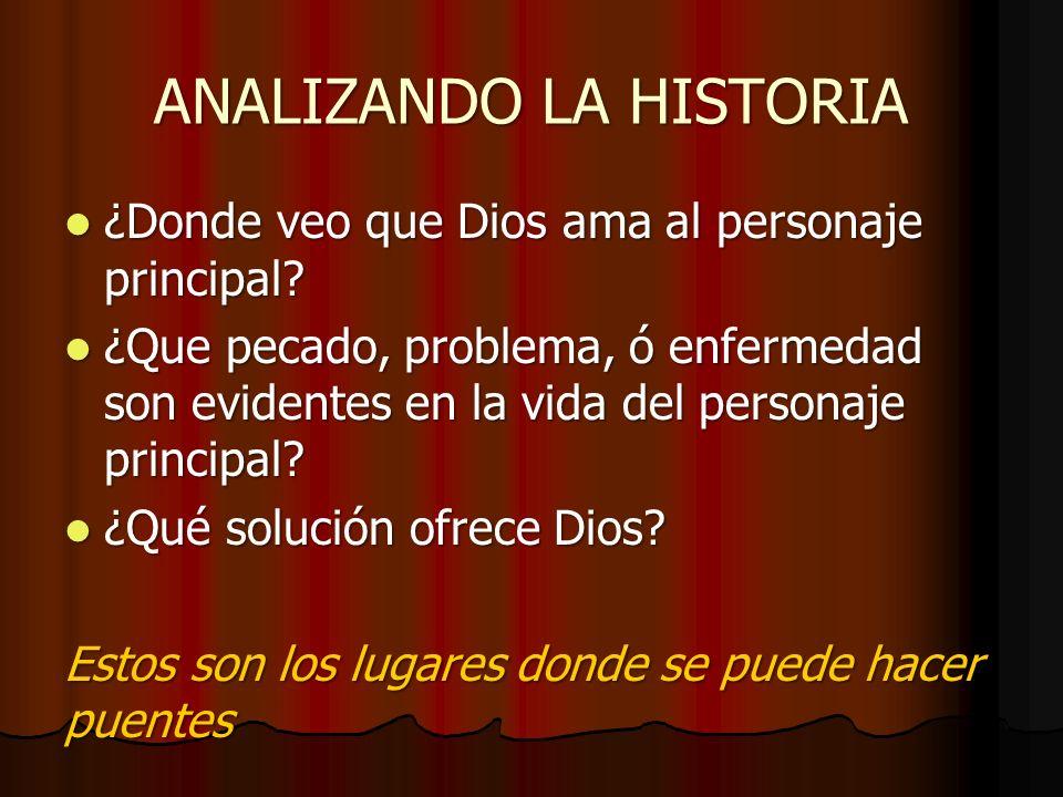 ANALIZANDO LA HISTORIA