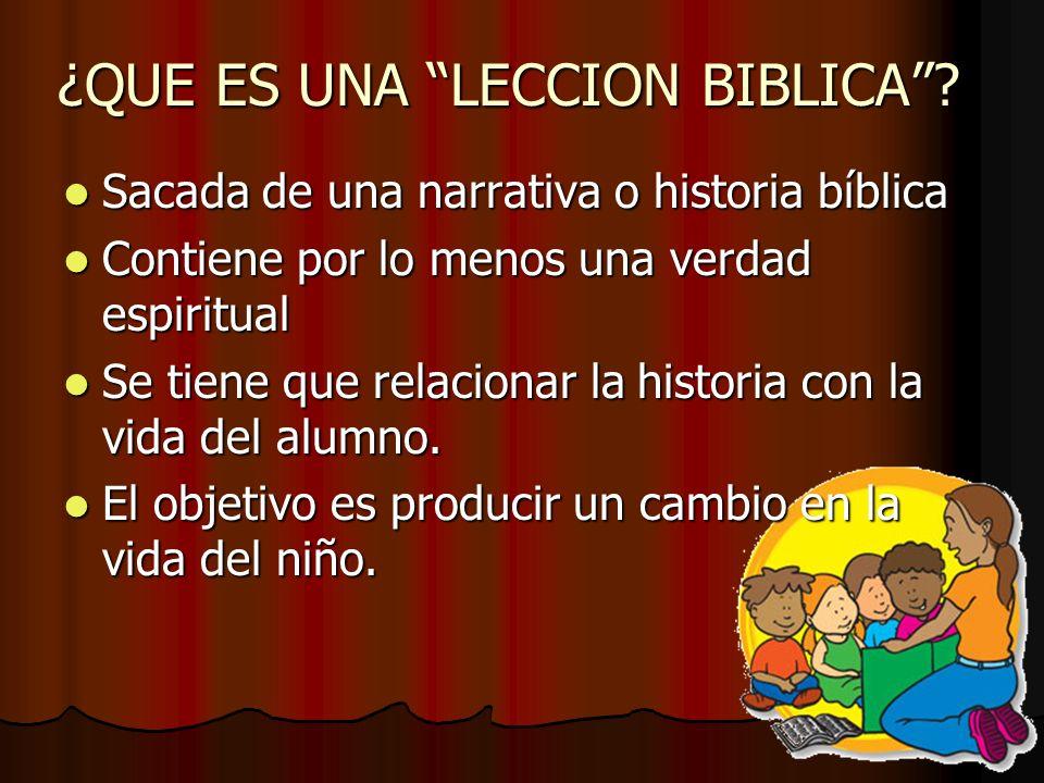 ¿QUE ES UNA LECCION BIBLICA