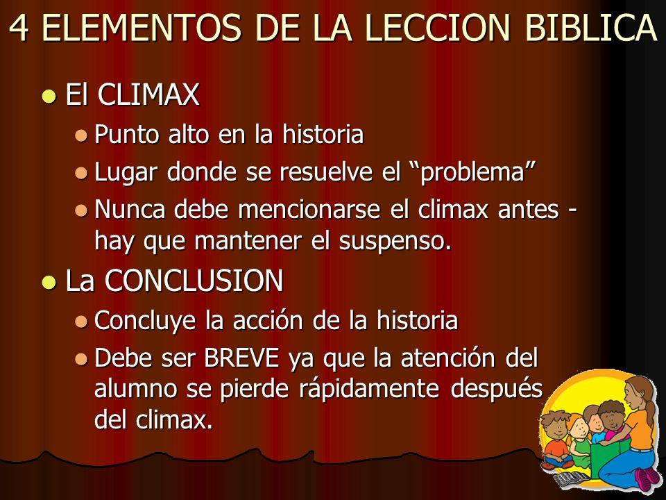 4 ELEMENTOS DE LA LECCION BIBLICA