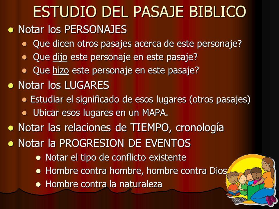 ESTUDIO DEL PASAJE BIBLICO