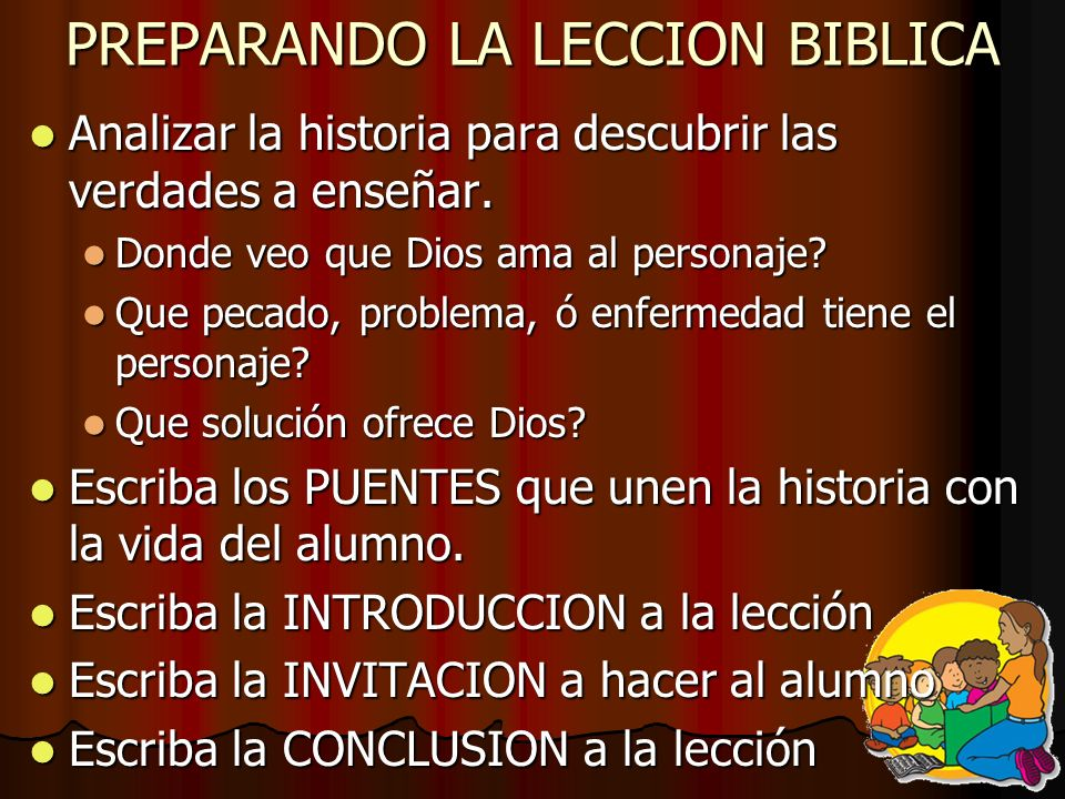 PREPARANDO LA LECCION BIBLICA