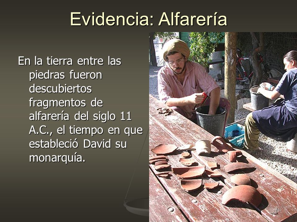 Evidencia: Alfarería