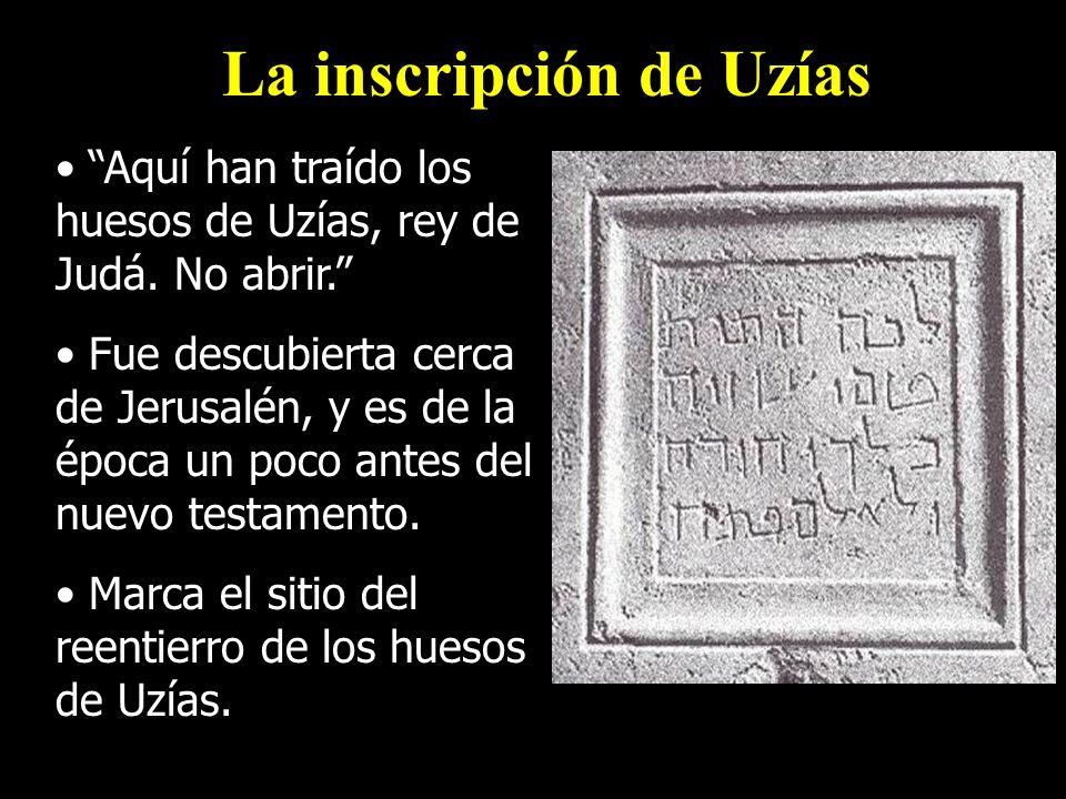 La inscripción de Uzías
