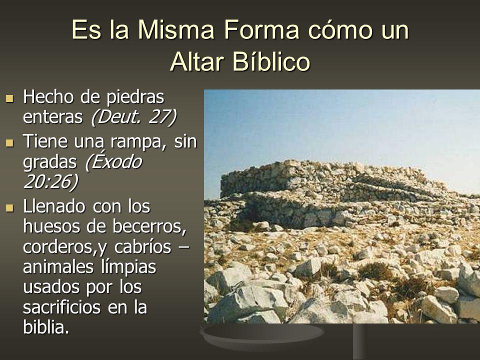 Es la Misma Forma cómo un Altar Bíblico