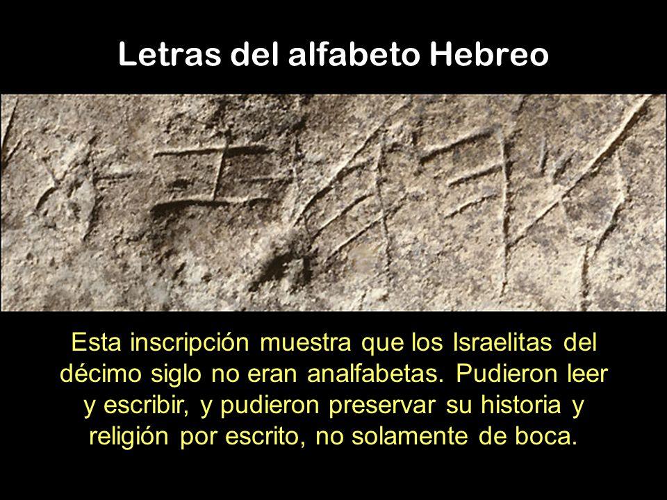 Letras del alfabeto Hebreo