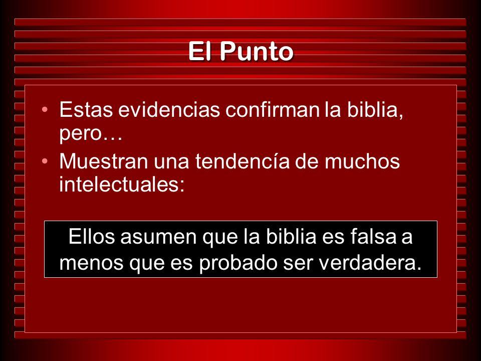 El Punto Estas evidencias confirman la biblia, pero…