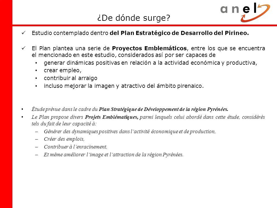 ¿De dónde surge Estudio contemplado dentro del Plan Estratégico de Desarrollo del Pirineo.