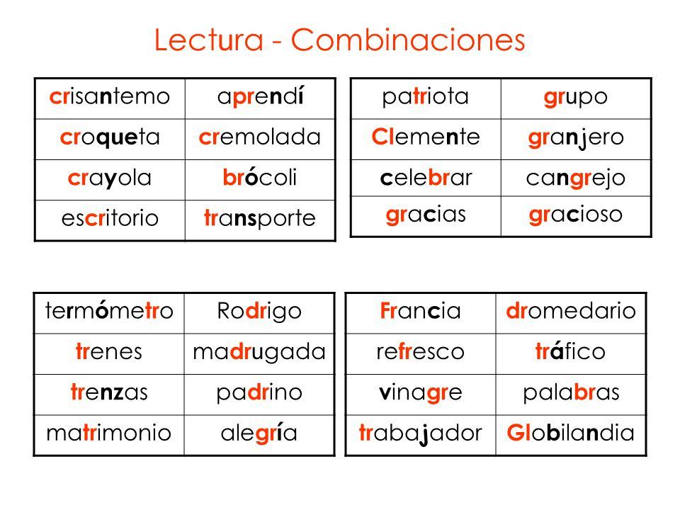 Lectura - Combinaciones