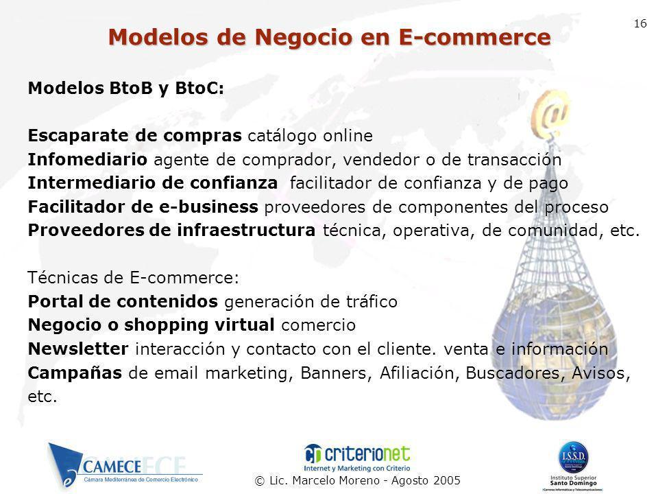 Modelos de Negocio en E-commerce
