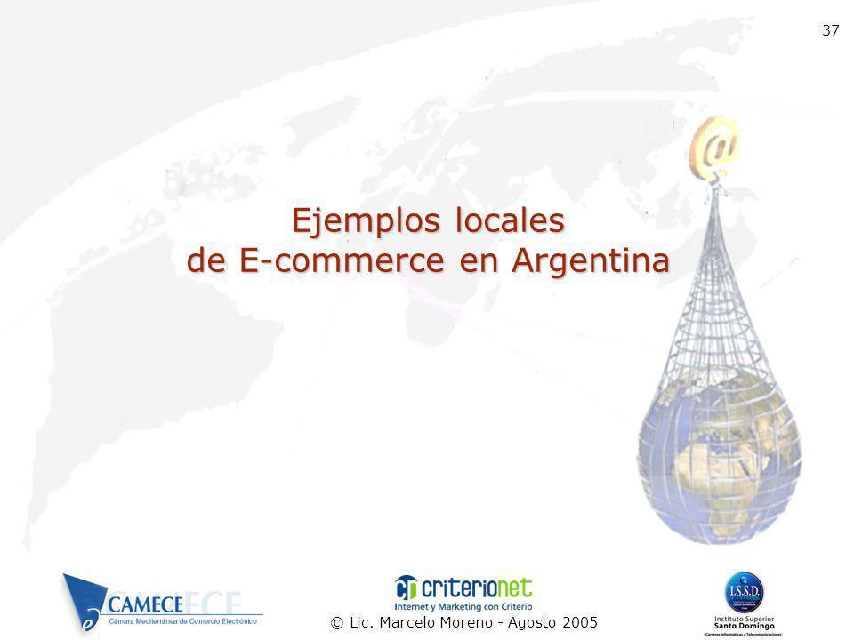 Ejemplos locales de E-commerce en Argentina
