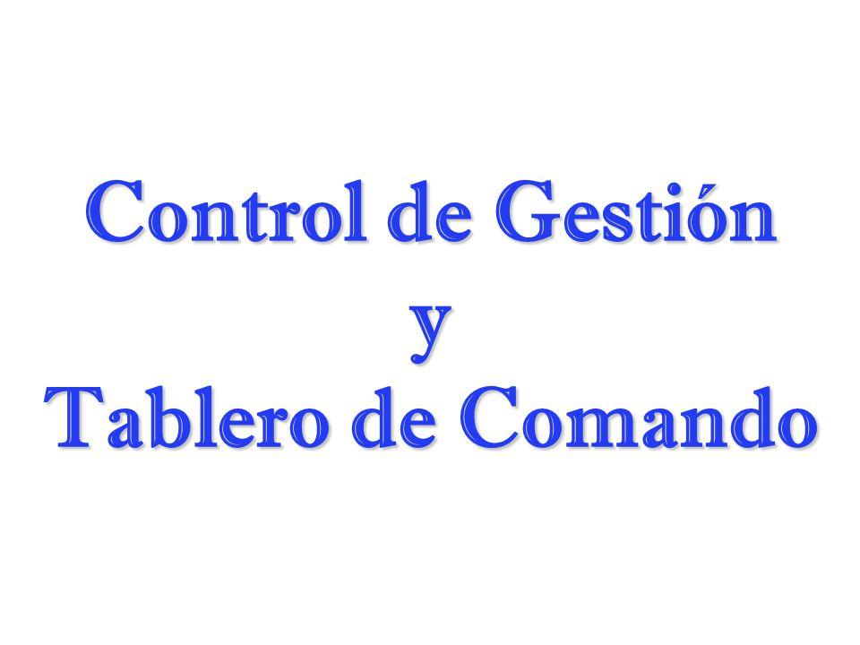Control de Gestión y Tablero de Comando