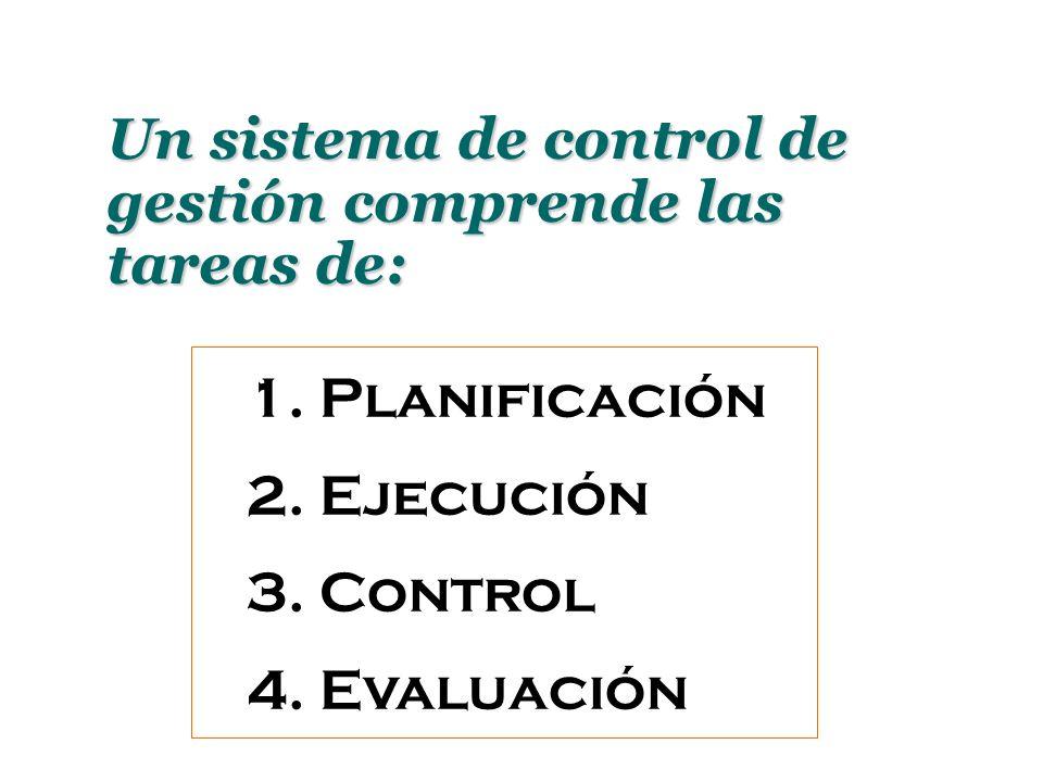 Un sistema de control de gestión comprende las tareas de: