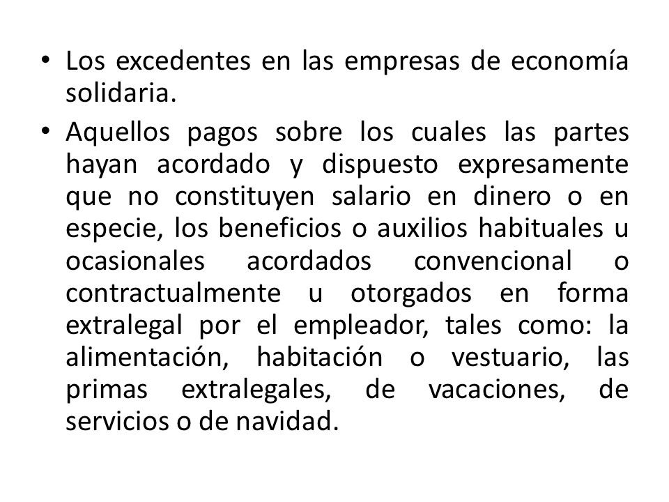 Los excedentes en las empresas de economía solidaria.