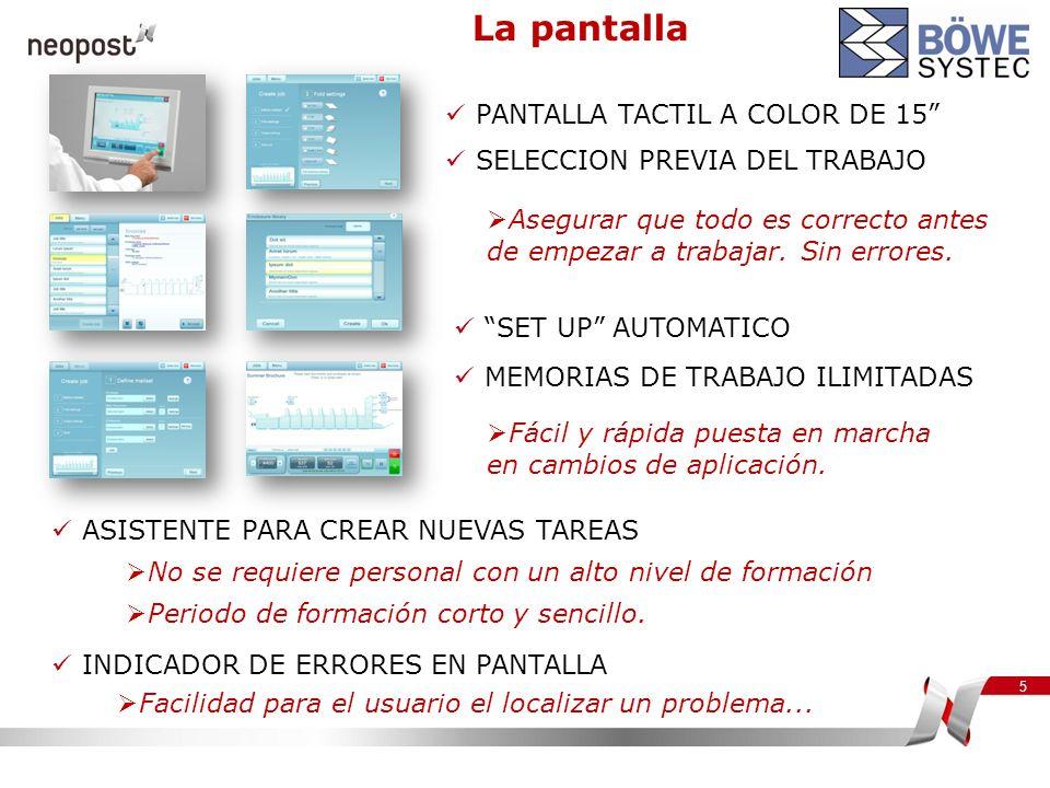 La pantalla PANTALLA TACTIL A COLOR DE 15