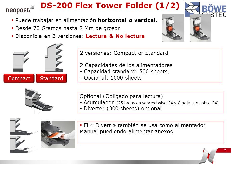 DS-200 Flex Tower Folder (1/2)