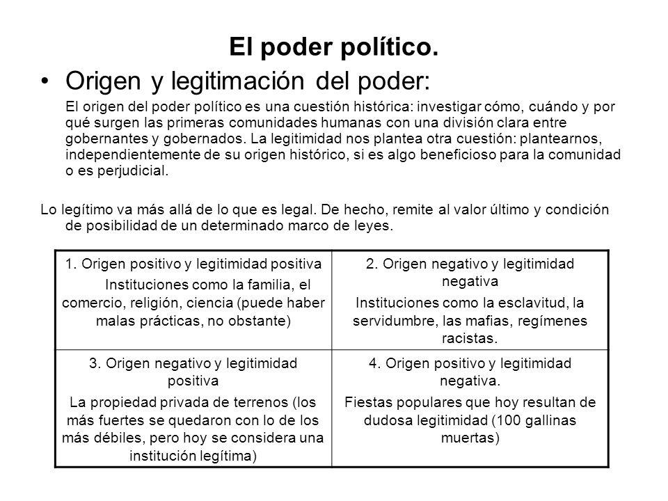 Origen y legitimación del poder: