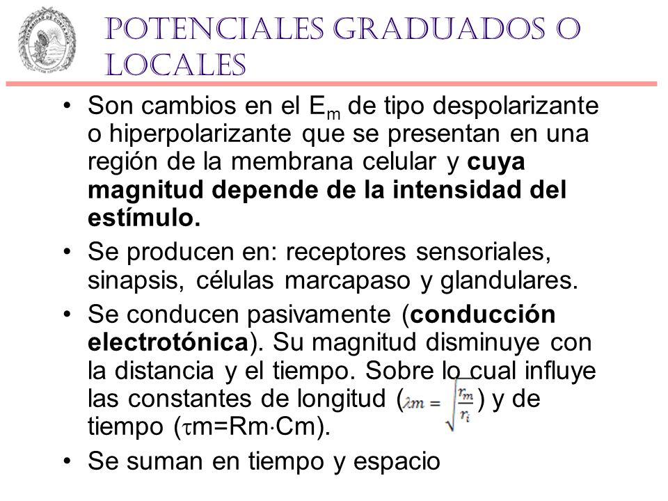 Potenciales graduados o locales