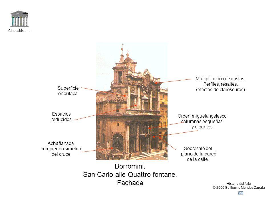San Carlo alle Quattro fontane. Fachada