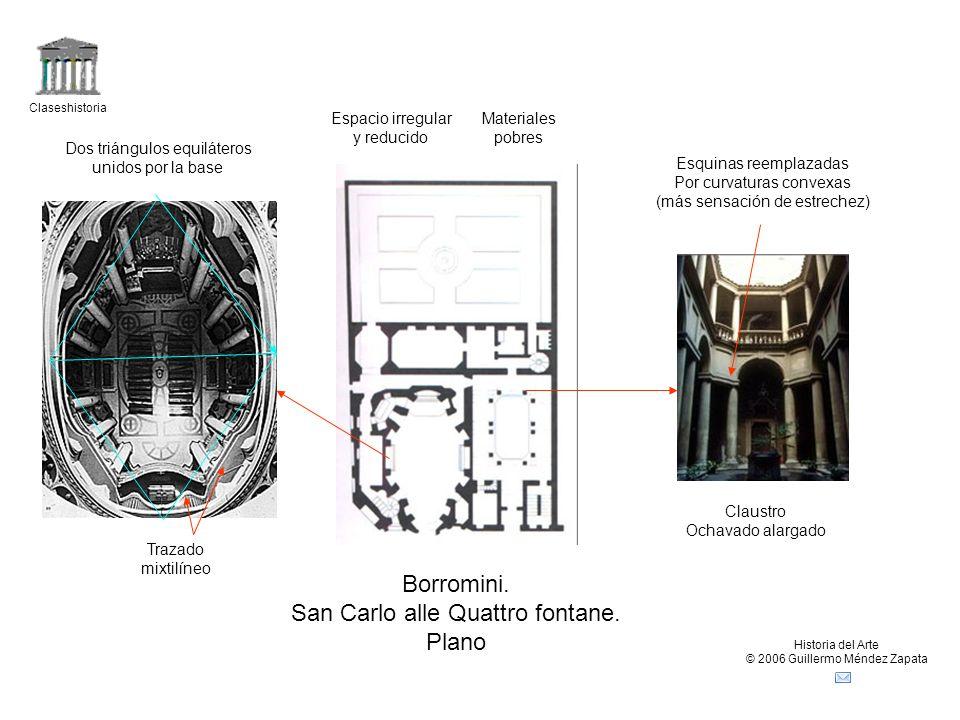 San Carlo alle Quattro fontane. Plano