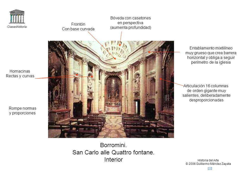 San Carlo alle Quattro fontane. Interior