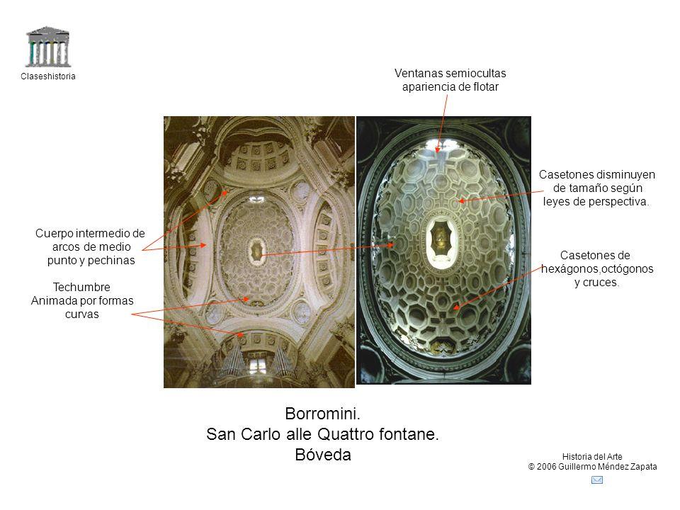 San Carlo alle Quattro fontane. Bóveda