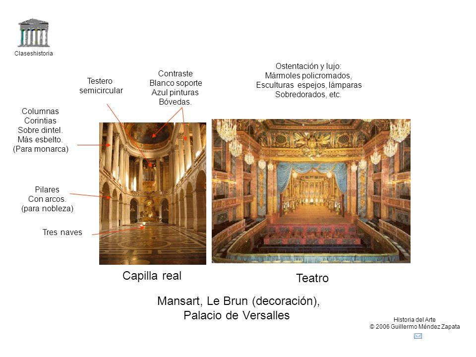 Mansart, Le Brun (decoración), Palacio de Versalles