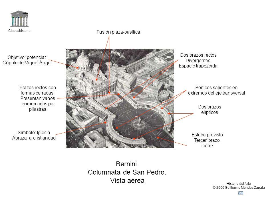 Bernini. Columnata de San Pedro. Vista aérea Fusión plaza-basílica