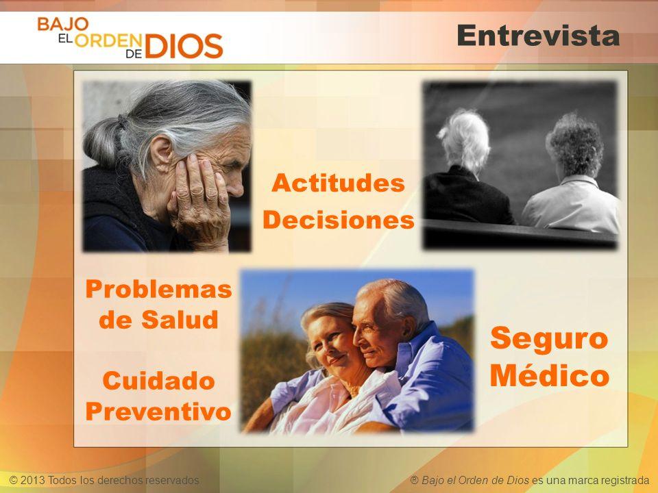 Seguro Médico Entrevista Actitudes Decisiones Problemas de Salud