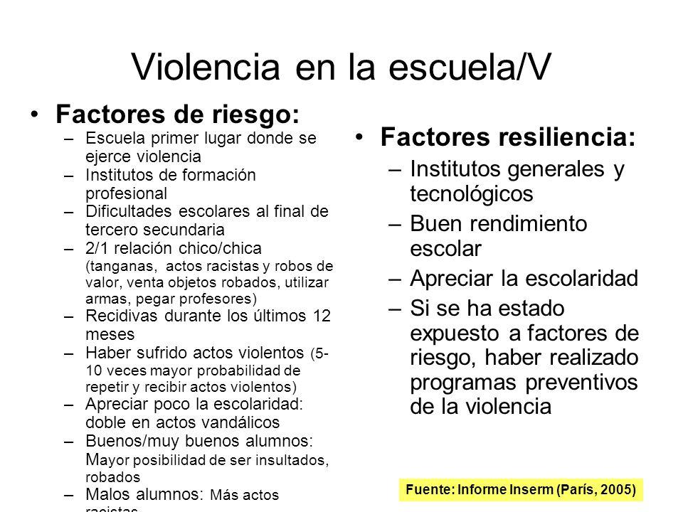 Violencia en la escuela/V