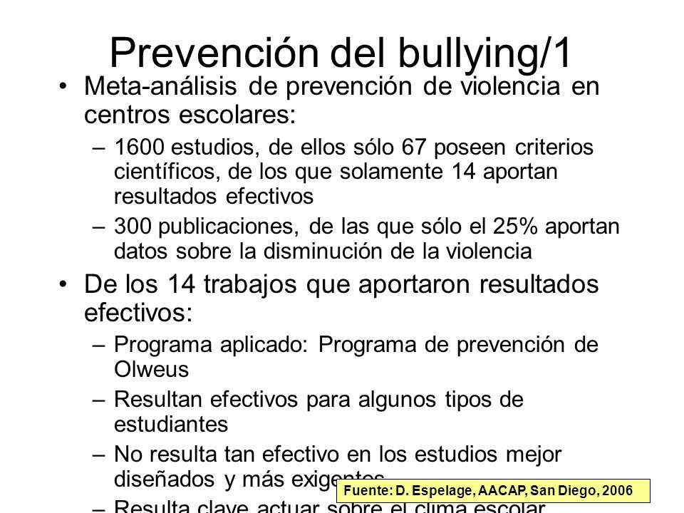 Prevención del bullying/1