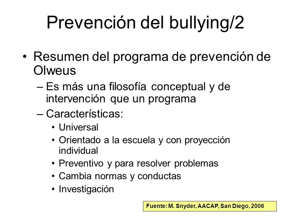Prevención del bullying/2