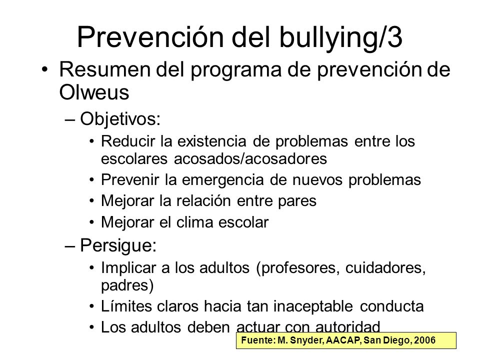 Prevención del bullying/3